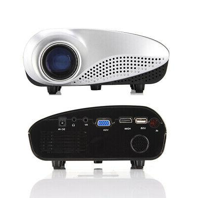 7000 1080P 3D VGA HDMI Home Theater Projector Cinema