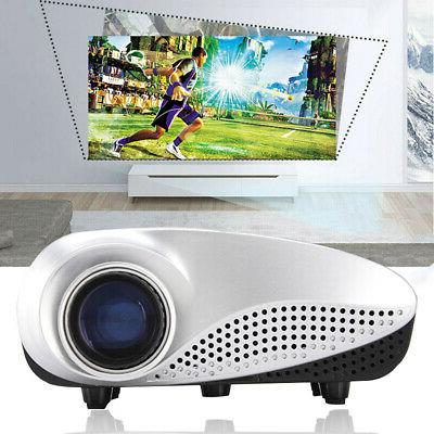 Mini 7000 Lumen Full HD 1080P 3D LCD LED Home Theater Projec