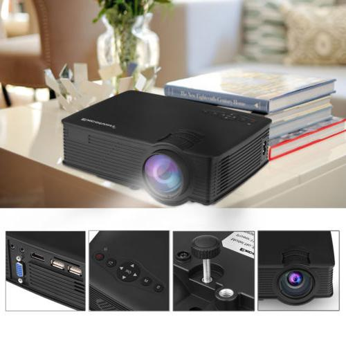 7000 Portable Mini Projector Theater Cinema SD