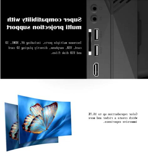7000LM HD Multimedia Home Cinema Theater USB VGA