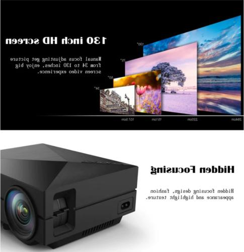 7000LM LED Full HD Multimedia Cinema Theater HDMI VGA