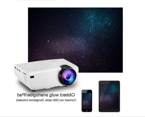 Super Lumens 1080P Projector  Android/IOS WiFi 3D 4K HD LED