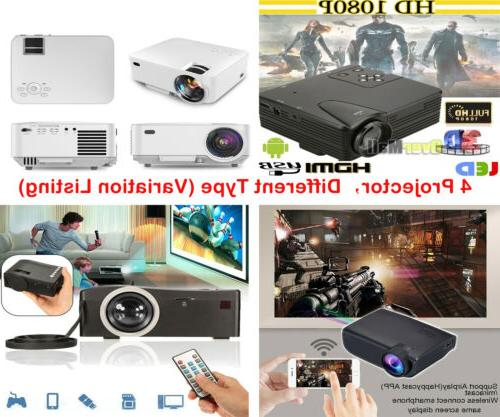 8000 lumens 1080p projector android ios wifi