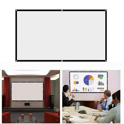 """100""""16:9 HD Projection Screen Home Cinema Video Projector Sc"""
