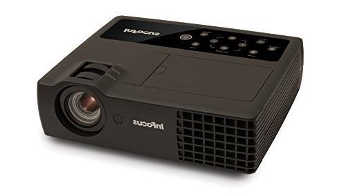 InFocus IN1116 WXGA DLP Portable Projector, HDMI, 3.5 lbs, 4
