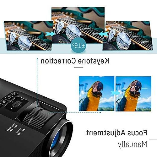 "VANKYO Leisure HD Lux, Video Projector 200"" Projection Support USB with HDMI Cable"
