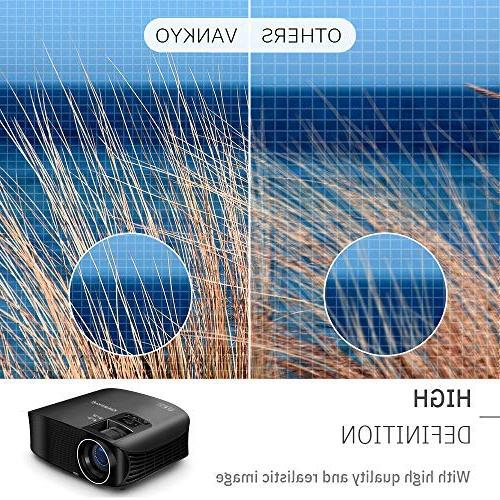 "VANKYO Leisure HD 3600 Lux, Projector 200"" Projection Size, 1080P VGA USB Free Cable"