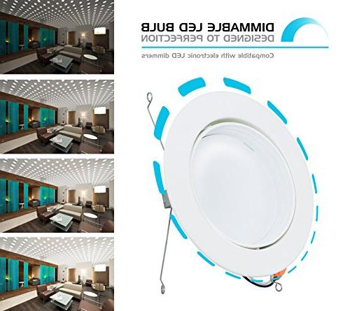 Adjustable with Trim, Dimmable LED Fixture, 120V YR