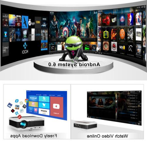 Bluetooth Projector Wireless LED Wifi HD 1080P
