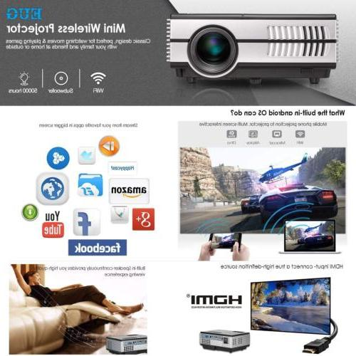 Bluetooth Projector Android Proyector Wifi HD 1080P