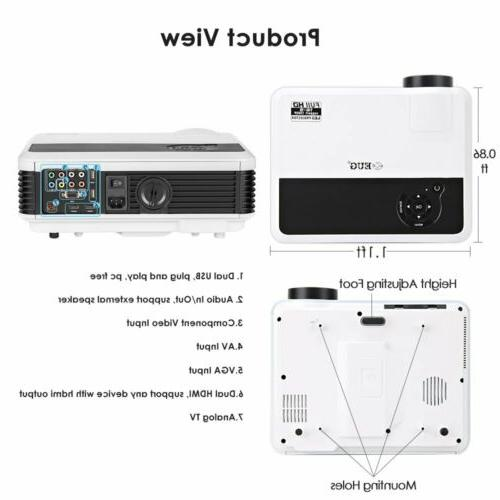Android Bluetooth Proyector Smart Wifi 1080P