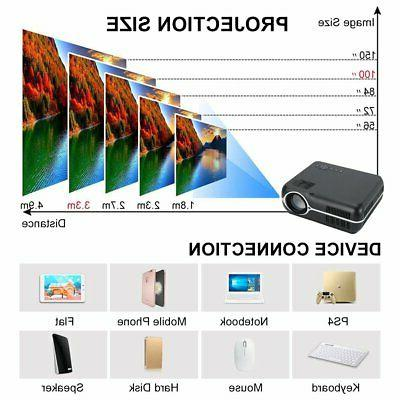 Bluetooth Wifi Projector Android Portable Home Theater