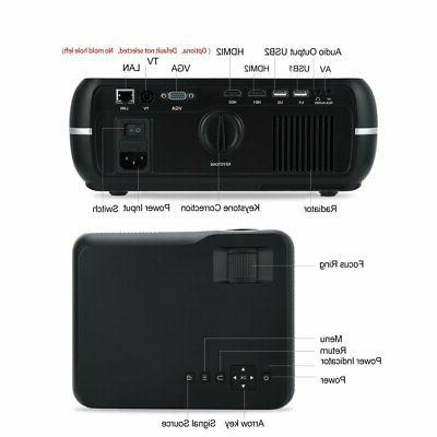 Bluetooth Wireless Projector Portable Home Theater