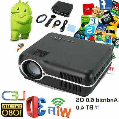bluetooth wifi wireless small projector android 6