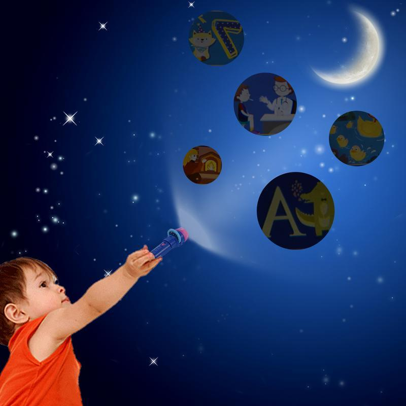 Children's Projection Toy Mini Story Early <font><b>Projector</b></font> Light Flashlight