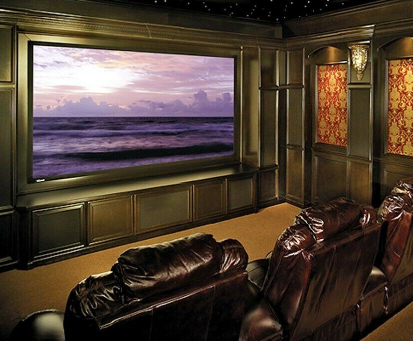 cinefold video projection movie screen ms1000 grey