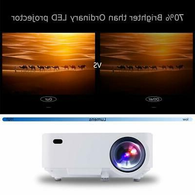 """DBPOWER Mini Projector 176"""" LED Projector 50000 H..."""