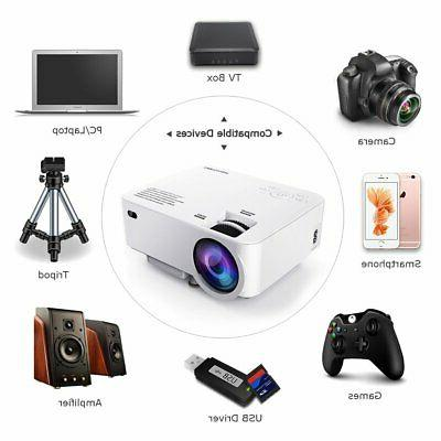 DBPOWER Projector Display 1080P Full HD H...