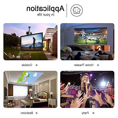 DR. 1080P Supported 4Inch Projector Display - Full HD Video Compatible with HDMI,USB,SD