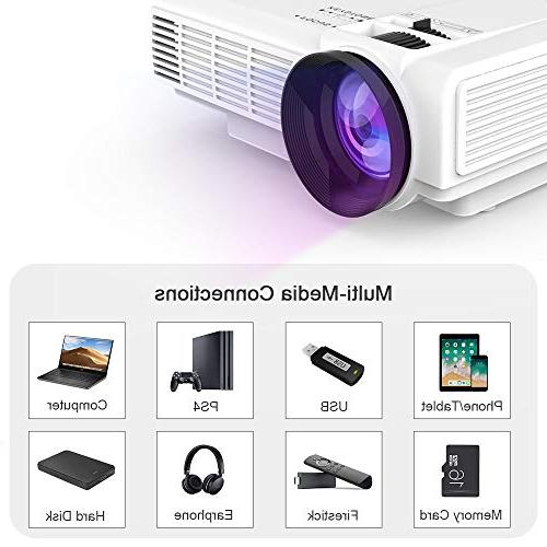 DR. 1080P Projector - 40,000 Full Compatible with HDMI,USB,SD