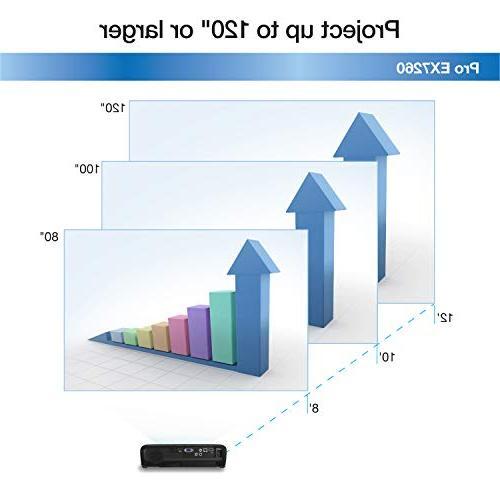 Epson EX7260 WXGA 3,600 lumens color 3,600 lumens wireless 3LCD projector