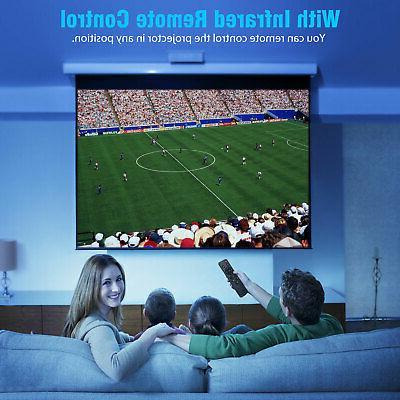 Full 1080P 2500 Lumens Mini Wireless Bluetooth WiFi Home