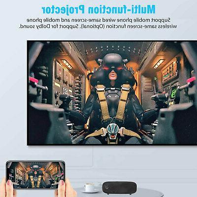 Full HD Lumens Portable Mini Bluetooth Home Projector