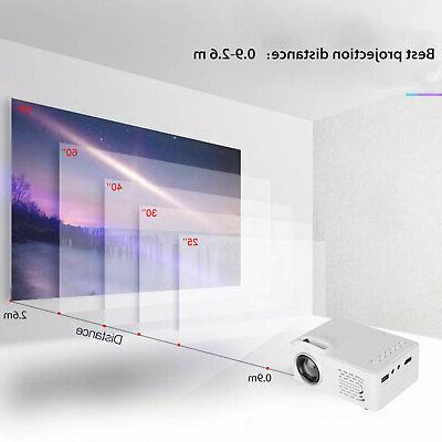 1080p HD Projector Smart Cinema w/HDMI USB 8000