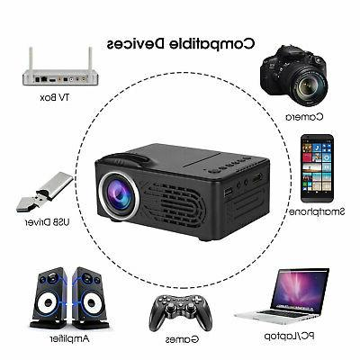 Full HD LCD Projector Home Theater Cinema For PC/Laptop/DVD