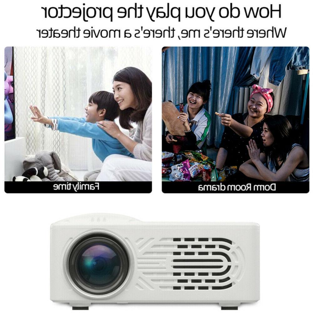 Portable LED Multimedia Projector 1080P Mini Home Cinema USB