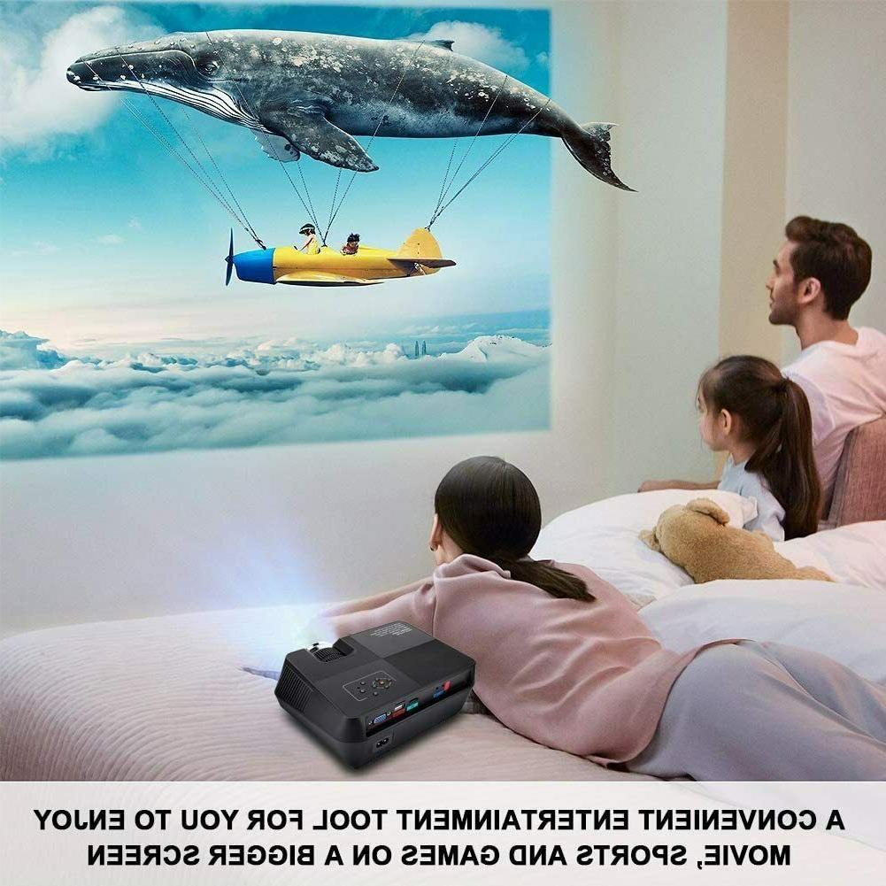 Full Theater Projector Cinema 1080P VGA HDMI