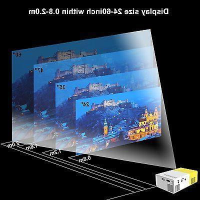 Artlii Fun Portable Mini Home 1080P Video Projector with USB/SD/AV/HDMI