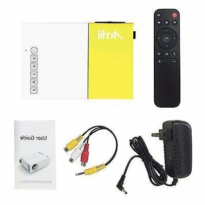 Artlii Portable Home Projector with USB/SD/AV/HDMI