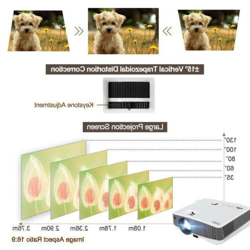 EUG Portable Smart Projector 4000lm Wifi 1080p