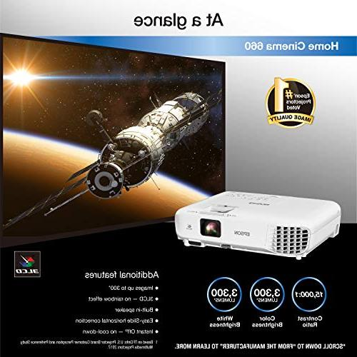 Epson Home Cinema 3,300 lumens color 3,300 HDMI