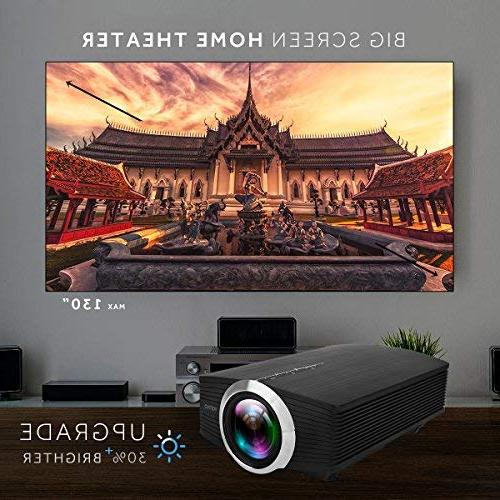 Led Projector, Vamvo Theater Source Supported with Fire TV Stick,HDMI/VGA/USB/SD 2018