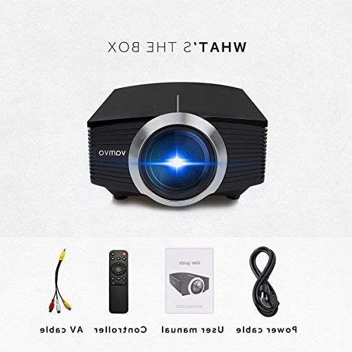 Led Home Theater Movie Source Video Projector 1080P Portable Compatible with Fire 2018 New Version