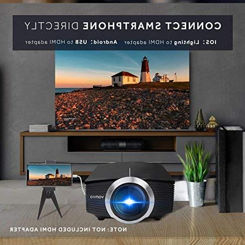 Led Vamvo Theater Source Video Supported 1080P Portable Projector with 2018