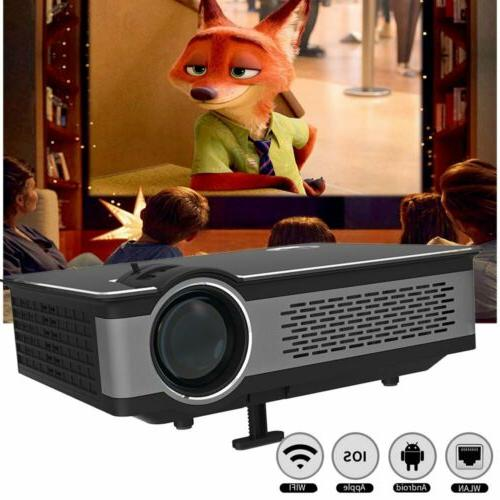 Home Theater Projector USB/SD/AV/Bluetooth WIFI Cinema Smart