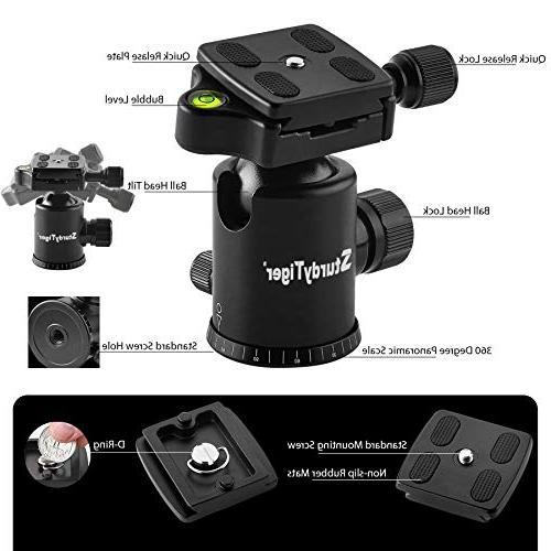 "Horizontal Arm Professional Camera Tripod Monopod – Portable Tripod 67"" for Video – Travel Tripod"