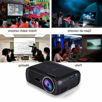 LED Home Projector 3D AV/VGA/USB/SD/HDMI