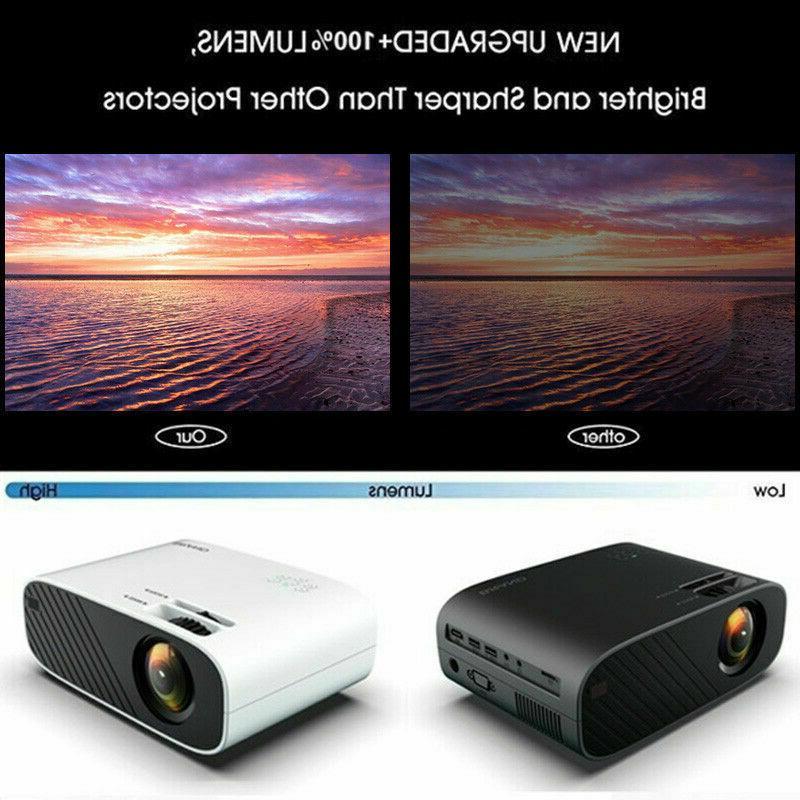 LED Smart Projector 18000Lumens HD 3D USB