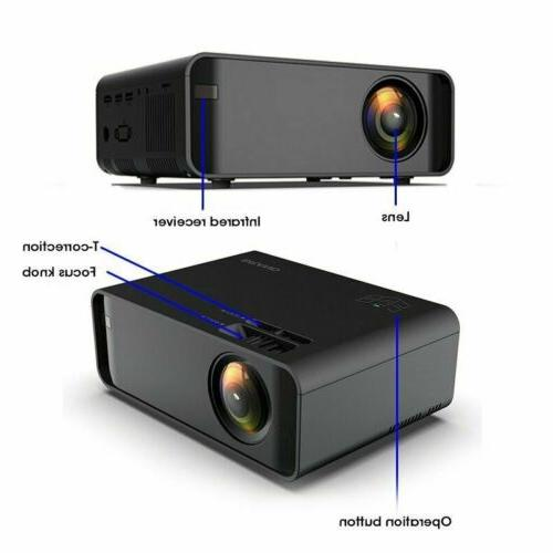 LED Smart Home Theater Projector 4K Wifi Lumens HD Movie HDMI USB