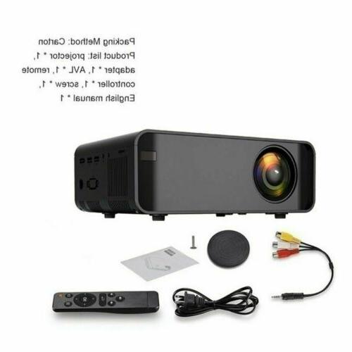 LED Smart Home Projector 4K Wifi Lumens Movie