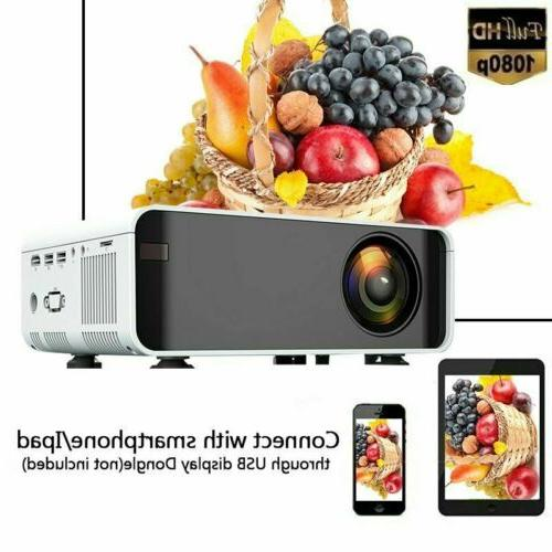 LED Smart Home Projector 4K Wifi Movie HDMI USB