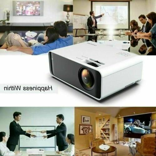 LED Home Theater Projector 4K Lumens 1080p Movie HDMI