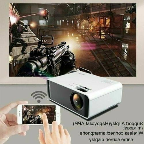 LED Smart Theater Projector 4K Movie HDMI USB