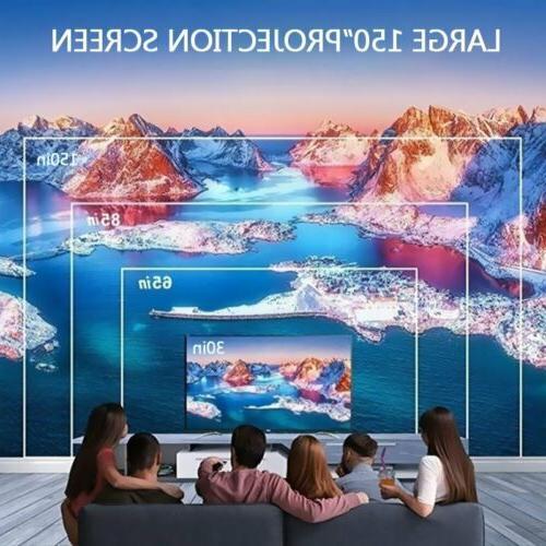 LED Smart Home Projector HD USB