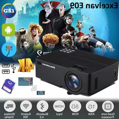 LED Smart Home Projector Android 4K Wifi Movie
