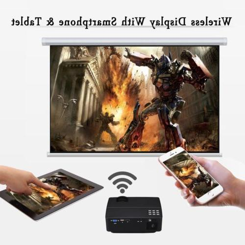 LED Smart Home Theater Projector Android Wifi Bluetooth HDMI Movie